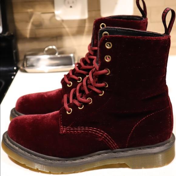 3c83febd89a23 Dr. Martens Shoes | Red Velvet Dr Martens | Poshmark